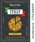 menu restaurant. italy food... | Shutterstock .eps vector #1701368449