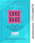 bakery menu design. cover... | Shutterstock .eps vector #1701368470