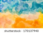 Abstract Colorful Water Color...