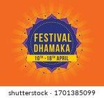 festival offer discount sale... | Shutterstock .eps vector #1701385099