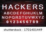 hackers glitch font template.... | Shutterstock .eps vector #1701401449