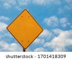 blank yellow road sign on the... | Shutterstock . vector #1701418309