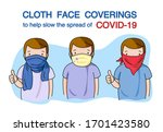 man wearing washable fabric... | Shutterstock .eps vector #1701423580