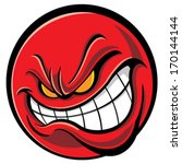 angry face | Shutterstock .eps vector #170144144