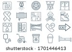 emergency services vector icon. ... | Shutterstock .eps vector #1701446413