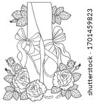 black and white outline vector...   Shutterstock .eps vector #1701459823