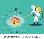 sanitize and disinfectant...   Shutterstock .eps vector #1701462310