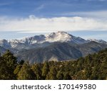 Pikes Peak Colorado - stock photo