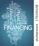 word cloud with financing... | Shutterstock . vector #170150108