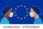coronavirus in world. doctor... | Shutterstock .eps vector #1701518620
