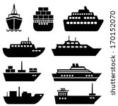 ship and boat icon set | Shutterstock .eps vector #170152070