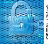 lock icon the background | Shutterstock .eps vector #170152628