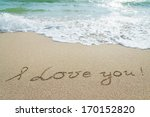 """Words """"i Love You"""" Outline On..."""