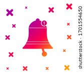 color bell icon isolated on...