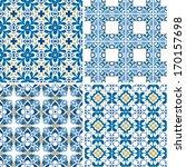 set of four seamless patterns...   Shutterstock .eps vector #170157698