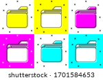 set document folder icon... | Shutterstock .eps vector #1701584653