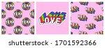 set of lgbt pride month poster...   Shutterstock .eps vector #1701592366