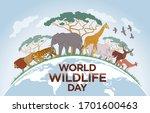world wildlife day. happy... | Shutterstock .eps vector #1701600463