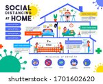 social distancing at home... | Shutterstock .eps vector #1701602620