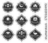 vector vintage ramadan badges...   Shutterstock .eps vector #1701603490