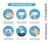 tips on how to wear and remove... | Shutterstock .eps vector #1701608359