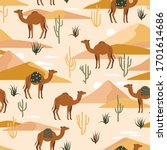 Seamless Pattern With Camels ...