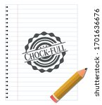 chock full draw with pencil...   Shutterstock .eps vector #1701636676
