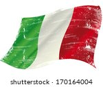 italian flag with a texture in... | Shutterstock .eps vector #170164004
