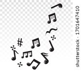 musical scale symbol or musical ... | Shutterstock .eps vector #1701647410