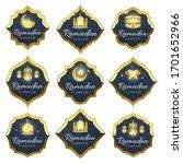 set of realistic ramadan kareem ... | Shutterstock .eps vector #1701652966
