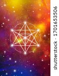 merkaba sacred geometry... | Shutterstock .eps vector #1701653506