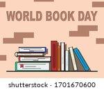 world book day. flat vector...   Shutterstock .eps vector #1701670600