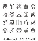 building and construction... | Shutterstock .eps vector #1701675550