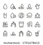 water line simple pictogram... | Shutterstock .eps vector #1701678613