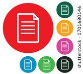 document file paper color...   Shutterstock .eps vector #1701680146