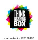 think outside the box creative... | Shutterstock .eps vector #170170430