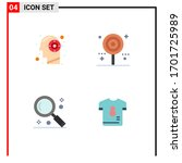 pack of 4 creative flat icons...