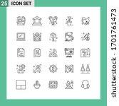 25 universal lines set for web... | Shutterstock .eps vector #1701761473