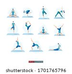 trendy flat illustration. yoga... | Shutterstock .eps vector #1701765796