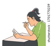 vector about a man who smokes...   Shutterstock .eps vector #1701770239