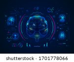 analysis of brain with medical... | Shutterstock .eps vector #1701778066