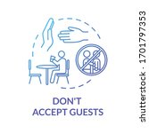 don't accept guests blue... | Shutterstock .eps vector #1701797353