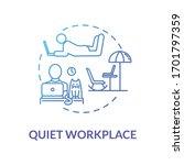 Quiet Workplace Blue Concept...