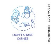 don't share dishes blue concept ... | Shutterstock .eps vector #1701797389