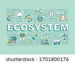 ecosystem word concepts banner. ...