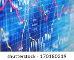 financial data on a monitor | Shutterstock . vector #170180219