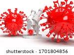 3d illustration of coronavirus... | Shutterstock . vector #1701804856