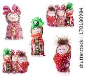 collections of handmade rag...   Shutterstock . vector #170180984
