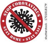 virus safety sign   stop... | Shutterstock .eps vector #1701818179