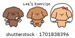set of dog doing different... | Shutterstock .eps vector #1701838396